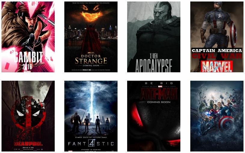Все фильмы Marvel в одном месте