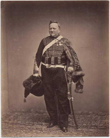 Quartermaster Sergeant Delignon in the uniform of a Mounted Chasseur of the Guard, 1809-1815