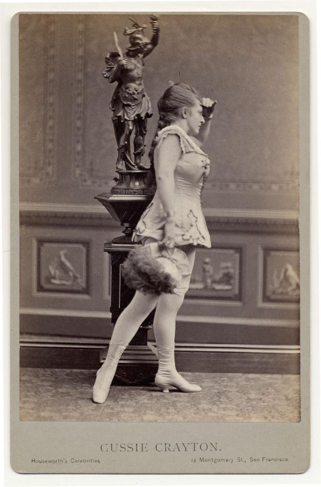 Викторианский портрет: Бурлеск-танцовщицы. Год 1890