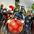 Мстители поздравляют с Рождеством и поют «We wish you a Merry Christmas»