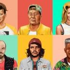 Легендарные политики в образе хипстеров