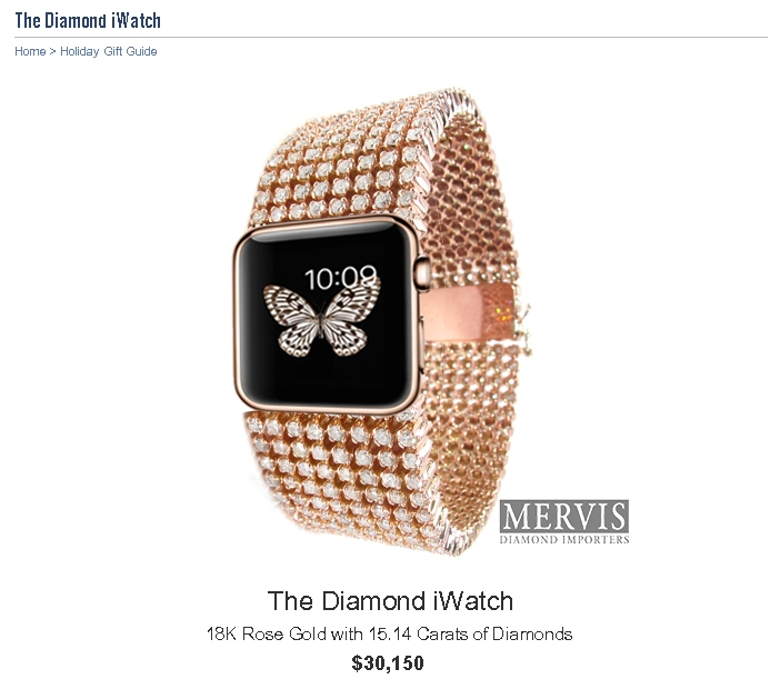 Apple Watch инкрустированный бриллиантами за 30 000$