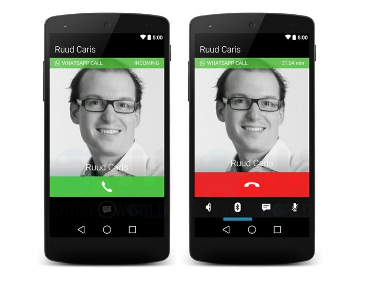 Голосовые звонки в WhatsApp