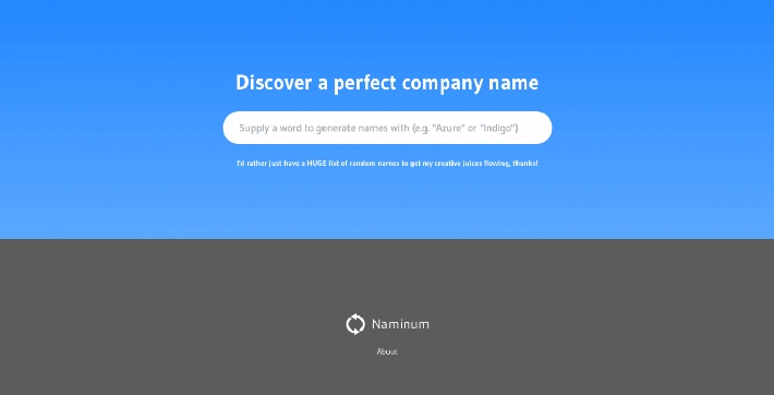 Naminum: Толковый генератор названий для твоих проектов