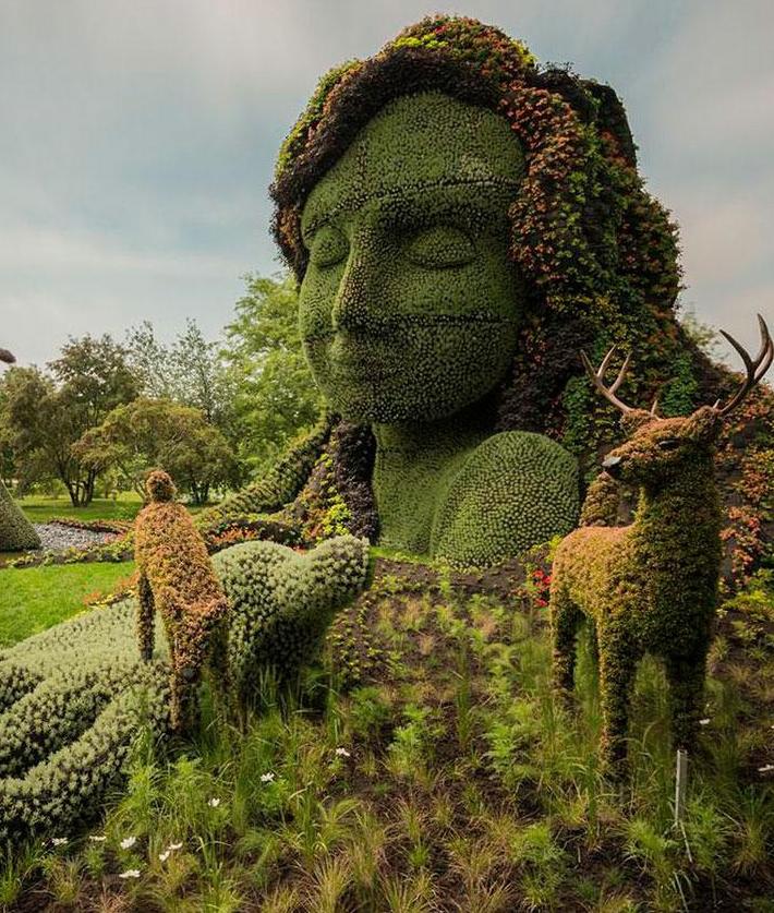 Садовые скульптуры Mosaicultures Internationales