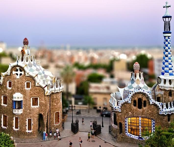 Фото как игрушечное: Барселона с эффектом Tilt-Shift