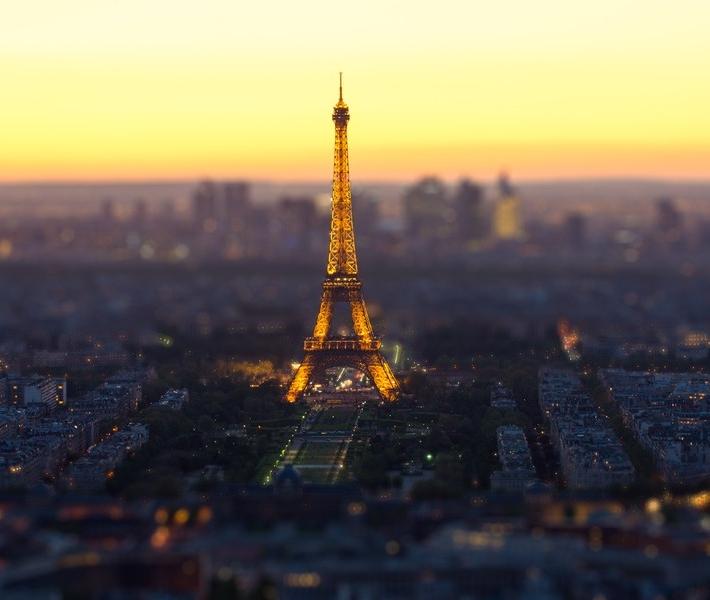 Фото как игрушечное: Париж с эффектом Tilt-Shift