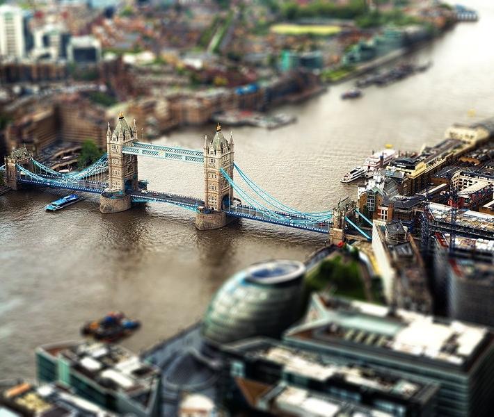 Фото как игрушечное: Лондон с эффектом Tilt-Shift