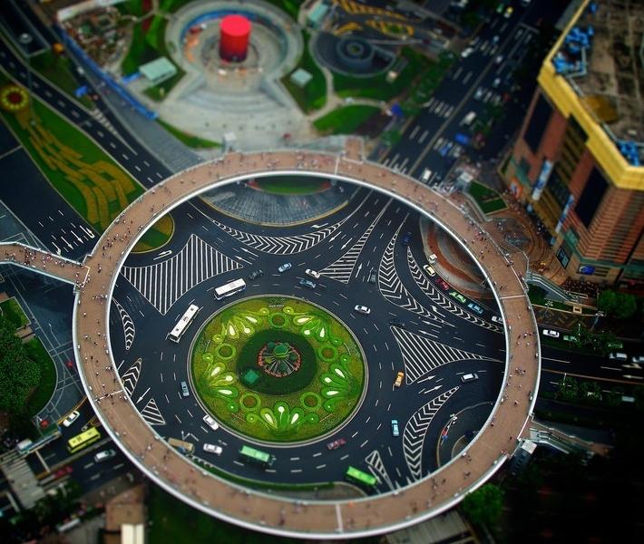 Фото как игрушечное: Шанхай с эффектом Tilt-Shift
