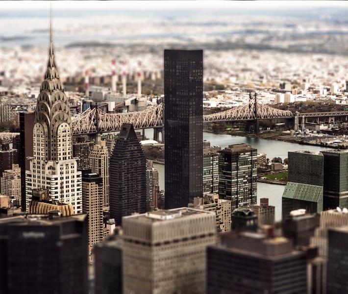 Фото как игрушечное: Нью-Йорк с эффектом Tilt-Shift
