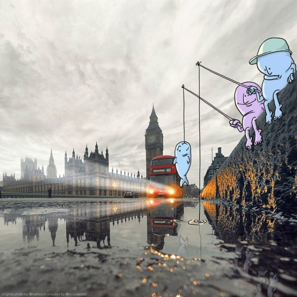 «Вторжение в фото» Лукаса Левитана