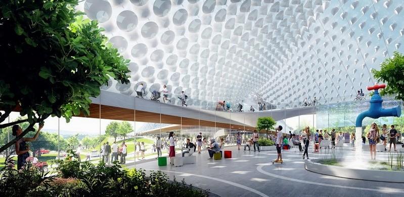 Google будущего: IT-гигант показал концепт новой штаб-квартиры