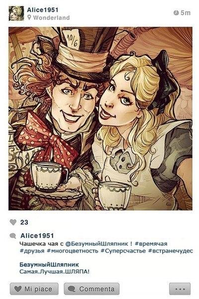 Instagram героев Disney