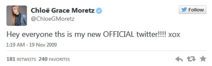 Первый твит Морец: «ХоХ»