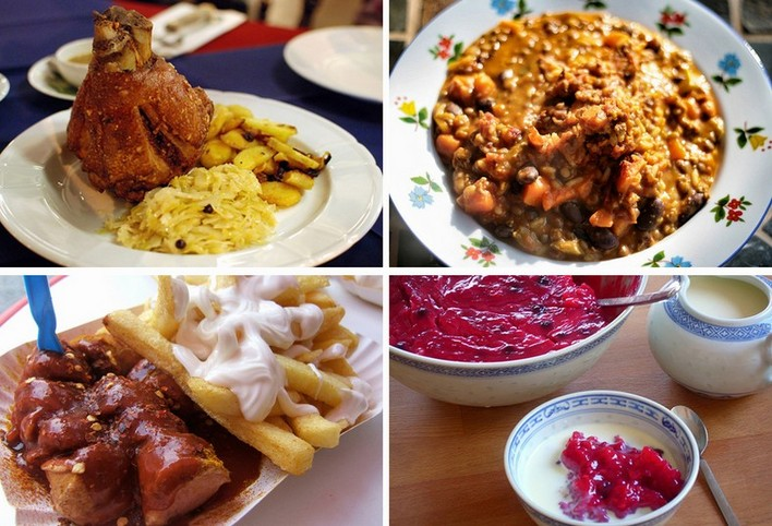 Традиционный завтрак в Европе